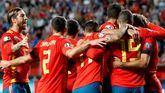La selección española de fútbol celebra su 4-0 ante Islas Feroe en la clasificación de 'Eurocopa 2020'.