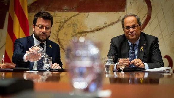 El presidente de la Generalida Quim Torra y el vicepresidente, Pere Aragonés.