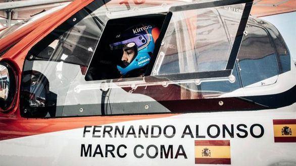 Dakar 2020. Fernando Alonso prueba a Marc Coma de copiloto