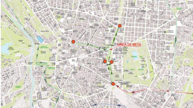 Cortes de tráfico en Madrid por la llegada de la etapa final de la Vuelta