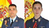 El comandante Daniel Melero y la alférez alumna Rosa María Almirón