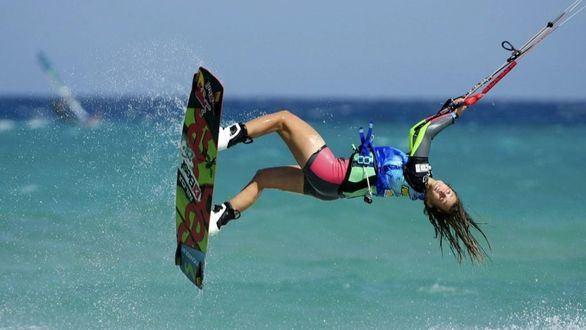 Katesurf. Gisela Pulido, muy motivada desde que su deporte ha sido declarado olímpico