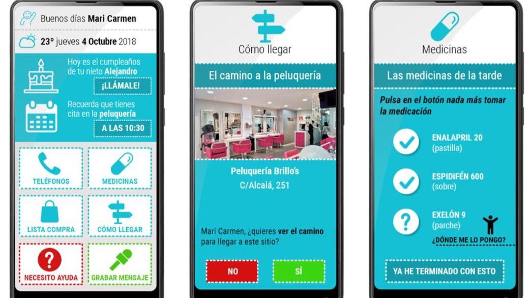 Un aplicación y un dispositivo para mejorar la calidad de vida de enfermos de Alzheimer