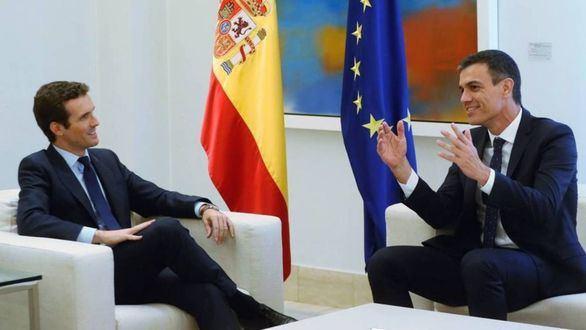 Pablo Casado y Pedro Sánchez.