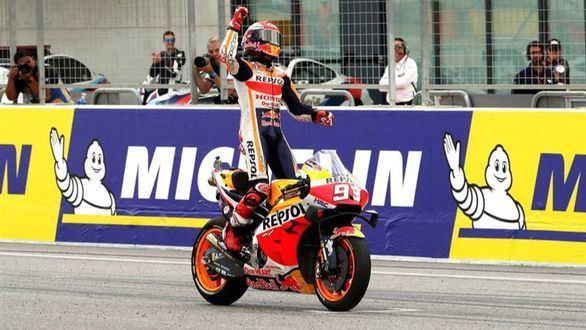 Moto GP. Octavo triunfo de Márquez para poner el sexto Mundial a tiro