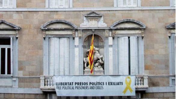 Continúa el desafío de Torra: recurre la orden del TSJC de retirar la pancarta de los presos