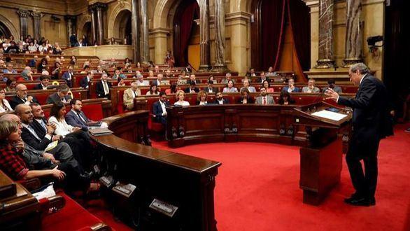 ERC, JxCat y la CUP utilizan el Parlament para apoyar a los CDR detenidos
