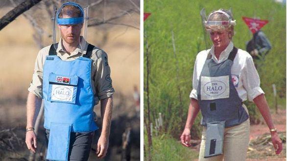 El príncipe Enrique emula a la princesa Diana en su lucha contra las minas antipersona