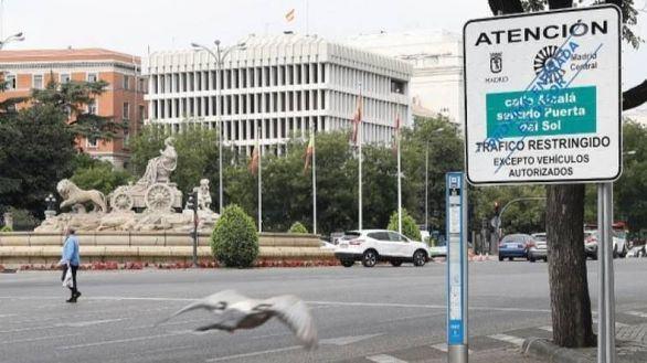 Los vehículos con etiqueta C podrán volver a entrar en Madrid Central