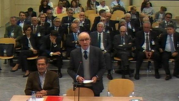 Captura de la señal institucional de video de la Audiencia Nacional, del expresidente de Bankia Rodrigo Rato.