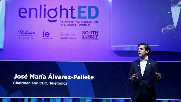El presidente de Telefónica, José Mª Álvarez-Pallete, ha intervenido en la primera sesión de EnlightED 2019