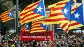 """Manifestación en Barcelona convocada por la ANC bajo el lema """"Acabemos lo que empezamos. Ganemos la independencia""""."""