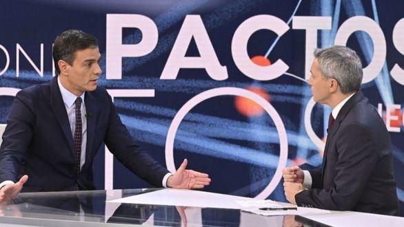 La entrevista a Pedro Sánchez atrae a casi 1,6 millones