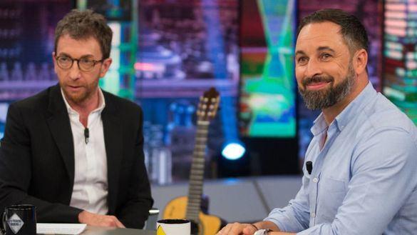 Entrevista de Pablo Motos a Santiago Abascal en 'El Hormiguero'.