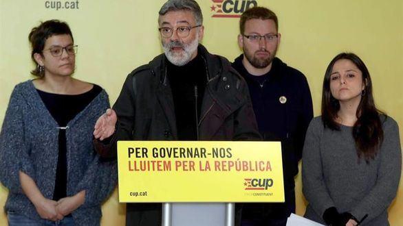 La CUP denuncia la represión de los Mossos y el Estado