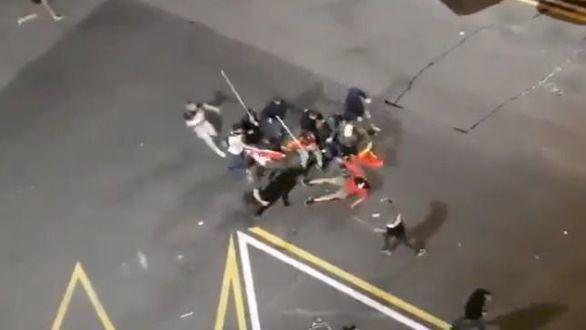 Detienen a dos de los ultras que apalearon a un independentista