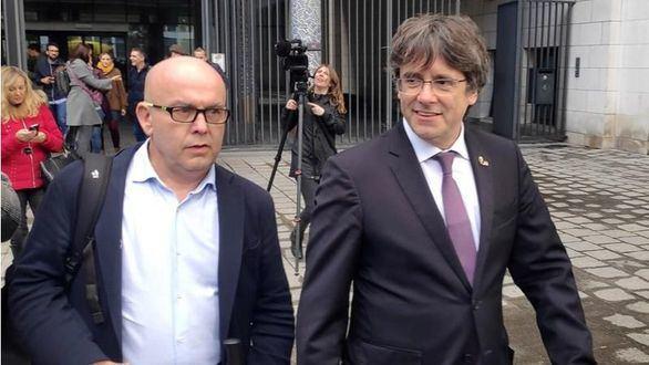 Puigdemont, en libertad tras comparecer ante las autoridades belgas