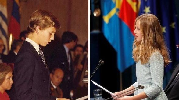 La Princesa de Asturias pronuncia su primer discurso a la misma edad que su padre