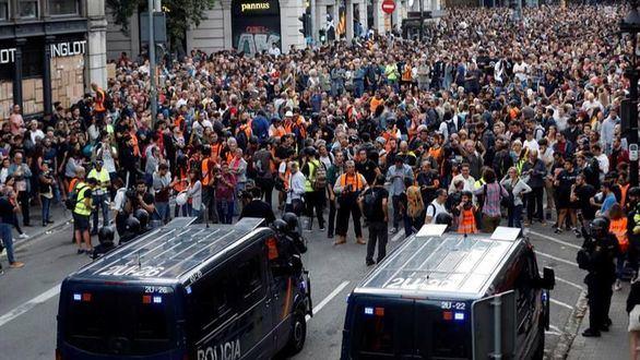 Las manifestaciones secesionistas concluyen sin incidentes de importancia