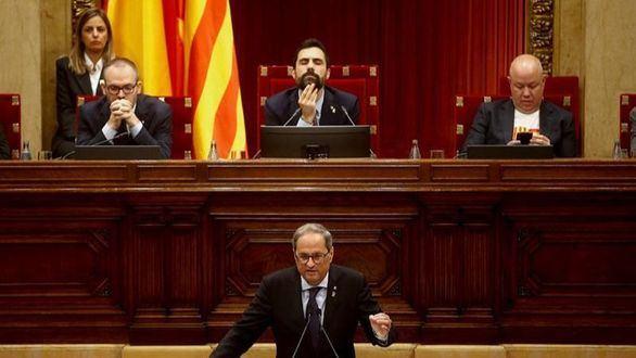 Torra amaga con la desobediencia del Parlament para unir al secesionismo