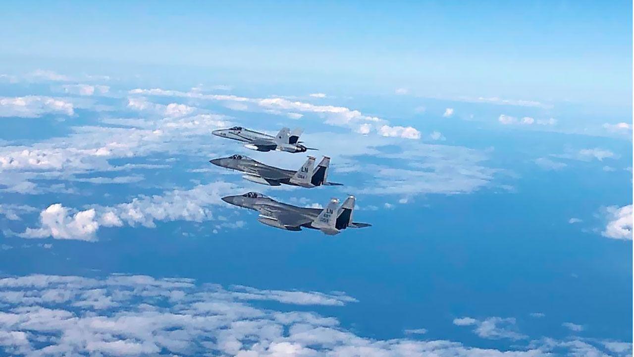 Ocean Sky: 50 cazas ponen a prueba en Canarias sus estrategias de combate