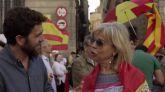 Gonzo, en 'Salvados', se trasladó hasta una de las manifestaciones contra el procés en Barcelona.