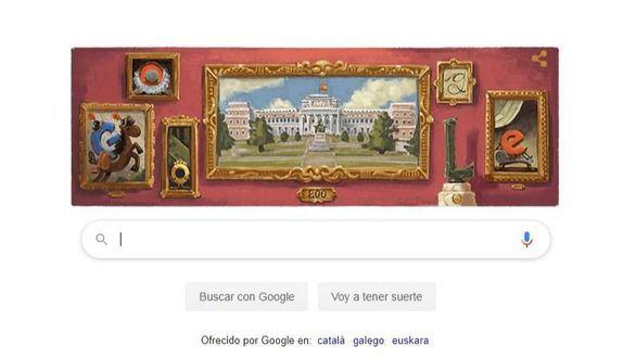 El Museo del Prado cumple 200 años con doodle de Google y exposición de Goya