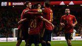 'La Roja' celebra su goleada ante Rumanía en la clasificación de la Eurocopa 2020.