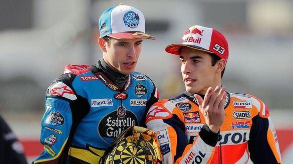 MotoGP. Álex Márquez se entrena con la Honda y Marc confiesa que le prefiere en otro equipo