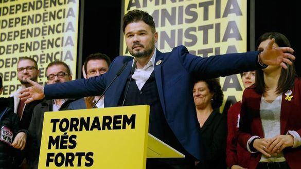 El cabeza de lista al Congreso por ERC, Gabriel Rufián.