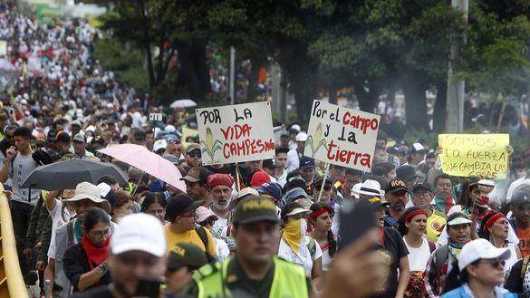 Colombia se contagia de la ola de protestas de Chile y Bolivia