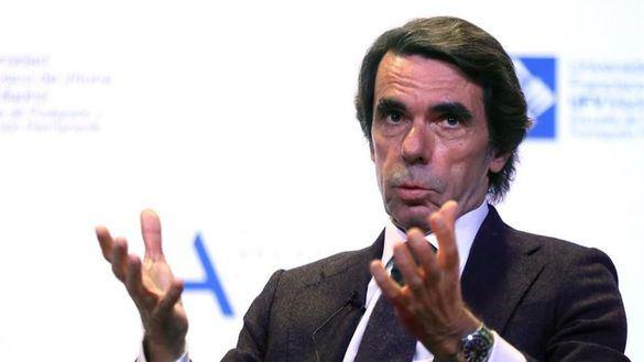 El expresidente del Gobierno José María Aznar, este martes.