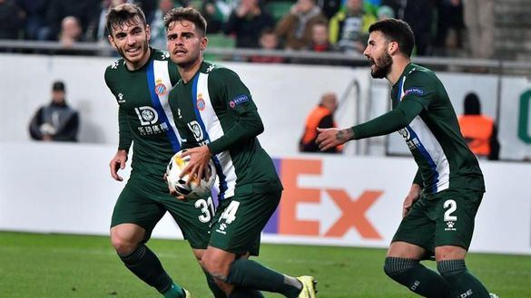 Liga Europa. El Espanyol se asegura el primer puesto tras empatar en Hungría |2-2