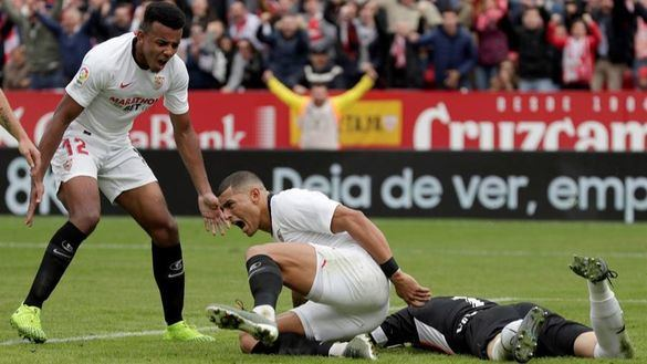El Sevilla se afianza con un trabajado triunfo ante el Leganés | 1-0