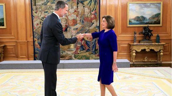 Ronda de recepciones de Felipe VI en el Palacio de la Zarzuela