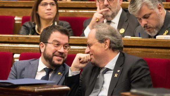 El presidente y vicepresidente de la Generalidad, Quim Torra y Pere Aragonés.