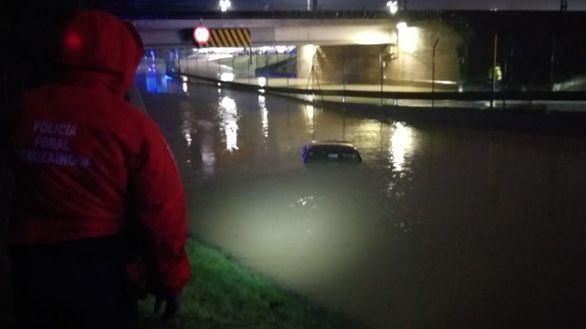Inundaciones en Navarra por la crecida de ríos tras las intensas lluvias