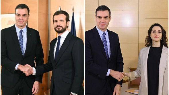 Ni PP ni Cs: Sánchez quiere gobernar con Podemos y el apoyo de ERC