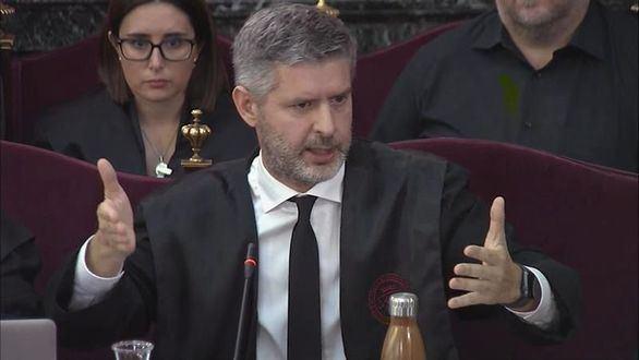 Andreu Van den Eynde, abogado de Oriol Junqueras, durante el juicio del procés