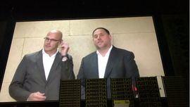 Romeva y Junqueras en un vídeo grabado desde la cárcel de Lledoners.