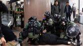 Enfrentamientos en Hong Kong: intercambio de gases y cócteles molotov