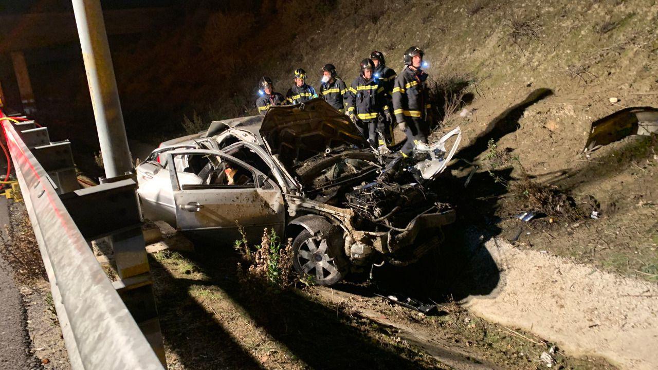 Fallecen tres jóvenes de 20 años en un accidente de tráfico en Madrid