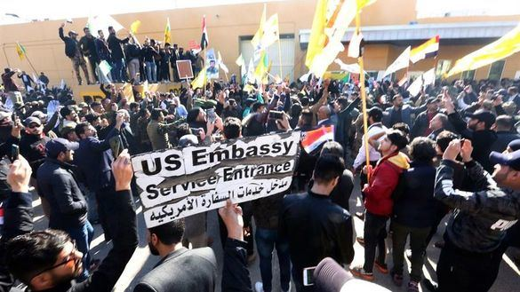 Las milicias piden a sus seguidores que abandonen la embajada de EEUU