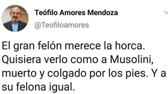El Gobierno lleva a la Fiscalía el tuit del concejal de Cáceres que deseó la