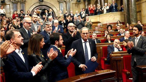 El Parlament ratifica a Torra y acusa la JEC de impulsar un 'golpe de Estado'