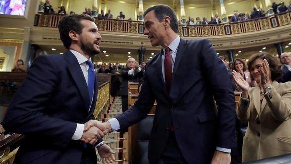 Los partidos que rechazaron la investidura de Sánchez suman 368.032 votos más que los que la apoyaron