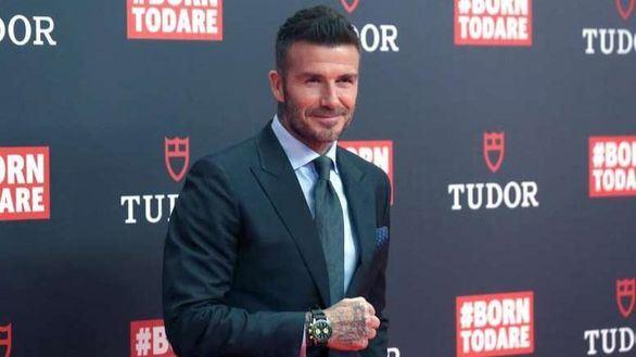 David Beckham lleva a sus hijos al rodaje de Modern Family