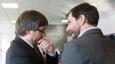 Imagen de archivo de Carles Puigdemont y Antoni Comín