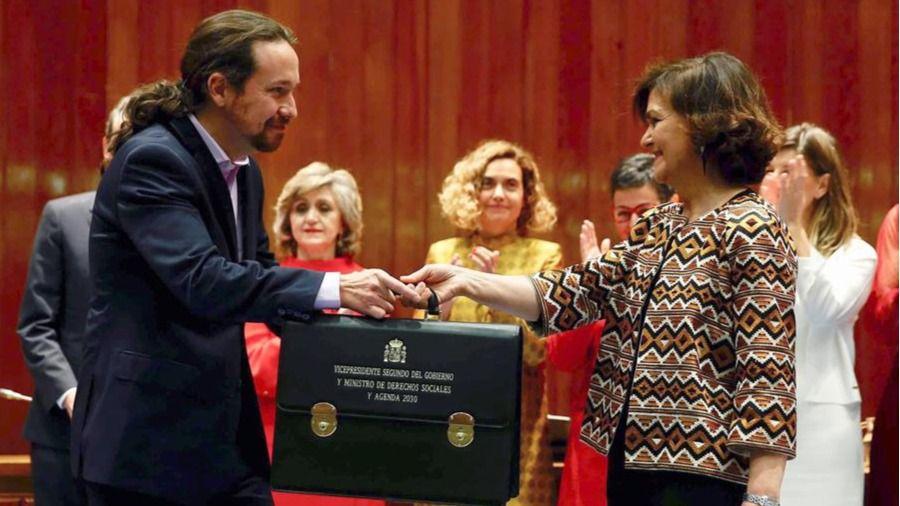 Iglesias toma posesión de su cartera de vicepresidente:
