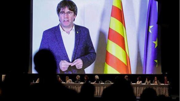 Carles Puigdemont, este miércoles.